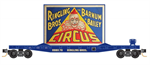 139 00 262 N Scale Flat car - N Scale Ringling Brothers - Clown Billboard #6  - Rd# 114 - N Scale
