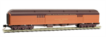 147 00 120 Heavyweight 70' Baggage - Milwaukee Road 837 - N Scale