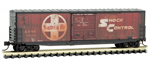 180 44 140 50' Weathered Ribbed Side Boxcar - ATSF 13238 - N Scale MicroTrains