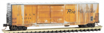 182 44 110 Micro-Trains Weathered 50' Double Door Box Car - Denver Rio Grande 63704 - N Scale