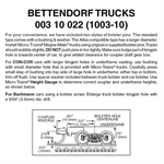 MT1003-10 Bettendorf Trucks w/ medium coupler Micro-Trains