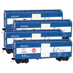 993 00 123 Box Car, Single Door Missouri Pacific 4 pack