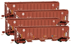 993 00 136 High Side Covered Hopper - Santa Fe Pack 4-Pack N Scale