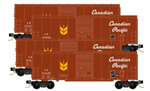 993 00 158 40' Standard Boxcar - Canadian Pacific - Runner 4 Pack - N Scale