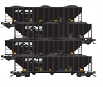 993 00 169 ***Pre-Order eta August 2020*** Hopper - Norfolk Southern 4 pack