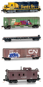 N Scale Weathered BNSF Set
