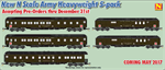 Micro-Trains 993 01 520 Army N Scale Heavywweight