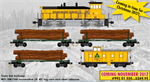993 01 550 Weyerhaeuser Logging Train Set (N Scale)