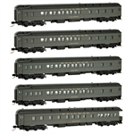 993 01 580 Pullman Heavyweight Passenger 5 car set (N Scale)