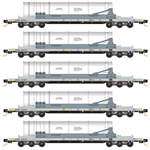 993 01 640 DODX Navy Flat Car 5pk N Scale