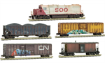 993 01 660 Weathered train set - Soo GP38 Freight Train Set - N Scale