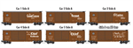 993 01 690 40' Box Car - Atchison Topeka Santa Fe - Slogan 5 pack