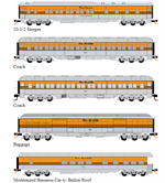 993 01 730 Denver & Rio Grande Western Heavyweight 5 car set - N Scale