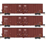 993 01 870 60' Rib Side, Double Plug Door High-Cube - Canadian National - 3 pack - N Scale