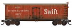 993 01 925 Swift Reefer Weathered 16 car set - N Scale