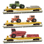 993 01 930 Flat Car set with Farm Equipment - 3 pack