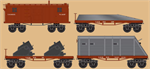 993 01 980 CWE USMRR Armored 4 Pack - N Scale MicroTrains