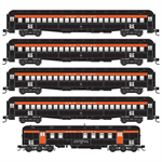 993 02 110 Heavyweight Passenger - New Haven 5 Car Set - N Scale MicroTrains