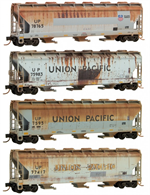 993 05 390 Weathered Covered 3 bay Hopper - Union Pacific