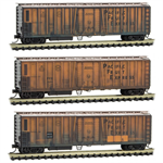 993 05 580 Weathered51' Rib Side Mechanical Reefer - Pacific Fruit Express