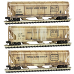 993 05 610 Weathered 3 bay Covered Hopper - CSX ex-Family Lines 3 pack - N Scale MicroTrains
