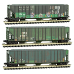 993 05 680 Weathered Covered Hopper - Burlington Northern