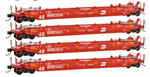993 00 164 70 foot Well Car 4 pack - N Scale MicroTrains