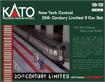 Kato 106-100 NYC 20th Century Limited N Scale
