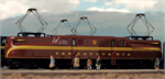 137-2006 N Scale Red GG1 Pennsy