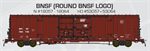 60' BX166 Double Door Box Car BNSF Roung Logo