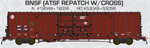 60' BX166 Double Door Box Car BNSF ATSF Patch