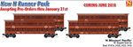 993 00 141 Missouri Pacific Dispatch Stock Car - Runner Pack 4 cars (N Scal