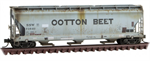 094 44 670 April Fools Side Weathered 3 bay Covered Hopper - Cotton Belt Ootton Beet - April Fools 2021