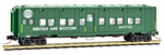 N Scale Norfolk & Western - Rd #565700 This 50' troop sleeper car is green with white lettering and runs on Allied Full Cushion trucks. This Maintenance of Way car was converted from a WWII bunk car and retained its Allied trucks. Belonging to series 5656