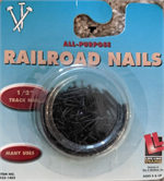 1402 - Track Nails 1/2 inch - Code 55/80 HO or N Scale Walthers